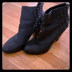 Steve Madden Black Studded Booties